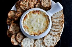 hot & cheesy roasted red pepper dip