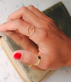 heart ring // gold or silver