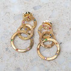 Linked Open Pebble Earrings