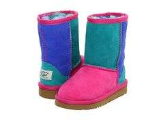 UGG Kids Classic Patchwork (Toddler/Little Kid) Fruit Punch Multi - Zappos.com Free Shipping BOTH Ways