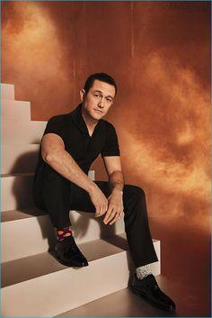 Joseph Gordon-Levitt sports all black in a photo for The Hollywood Reporter.