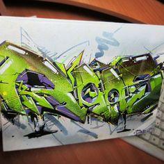 Rasko on canvas 2014 #rasko #graffiti #canvas #art #artwork #painting #best #drawing #streetart #letters #colors