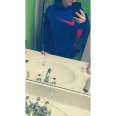 Nike sweatshirt! Blue/orange Blue and orange Nike sweatshirt, good condition and comfy!! It's a youth XL but I'm a small and it fits me perfectly! Nike Tops Sweatshirts & Hoodies