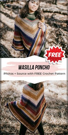 crochet Wasilla Poncho free pattern 2019 crochet Wasilla Poncho free pattern easy crochet poncho pattern for beginners The post crochet Wasilla Poncho free pattern 2019 appeared first on Scarves Diy. Crochet Poncho Patterns, Crochet Patterns For Beginners, Knitted Poncho, Crochet Scarves, Crochet Shawl, Knitting Patterns Free, Crochet Clothes, Easy Crochet, Crochet Baby