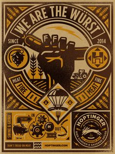 Illustration / Hoptinger | obey propaganda design style is forever!!