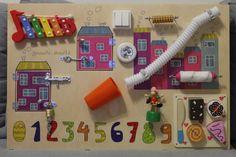 Busy Board Baby girl Activity Board Sensory