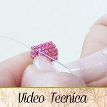 VIDEO TECNICA - HobbyPerline.com - Il negozio per la bigiotteria Fai da Te Bubble Bobble, Bracelet Tennis, Brick Stitch Tutorial, Videos, Engagement Rings, Beads, Creative, Handmade, Diy Jewellery