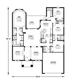 homivo contemporary ranch style homes floor plans | Siesta Key Sunbelt Ranch Home Plan 116D-0005 | House Plans and More