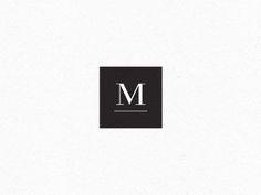 simple punchout square logo