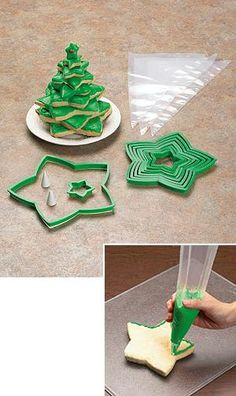 Christmas Tree Cookie Set