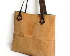 Corcho regalo ecológico vegano del bolso por MyCottonHouse