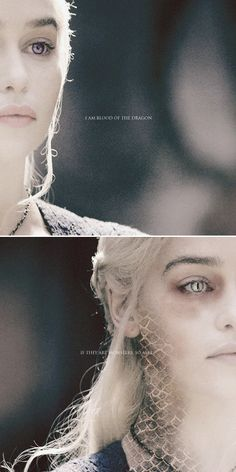 Daenerys Targaryen: I am blood of the dragon. If they are monsters, so am I. #asoiaf