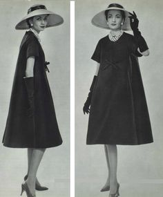 "1958 Dior ""Trapèze"" a blend of silk and wool"