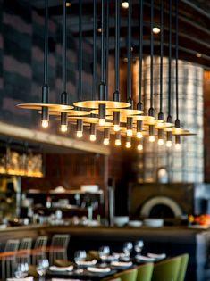 » POMO Italian restaurant Dining Buffet, Restaurant Design, Akita, Lighting, Capri, Architects, Blue Prints, Dining Room Buffet, Lights