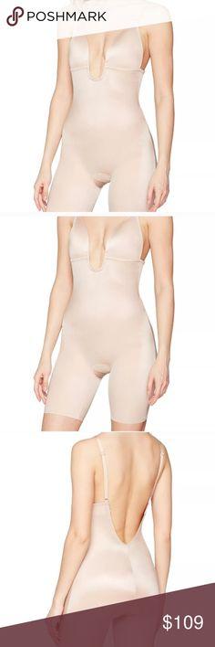2726e19b3407 SPANX ' Plunge Low Back Bodysuit M Beige SPANX 'Suit Your Fancy' Plunge Low