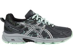 Maintain your footing when running on rough countryside terrain with the help of the ASICS GEL-VENTURE 6 trail shoe for women. Buy Shoes, Me Too Shoes, Women's Shoes, Asics Gel Venture, Running Equipment, Gel Cushion, Running Shoe Reviews, Synthetic Rubber, Trail Shoes