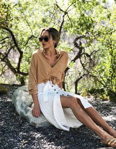 OOTW Summer Skirts And Tie Front Tops | Fashionisers