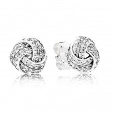 Pandora Silver Sparkling Love Knots Stud Earrings. Pretty is an understatement.