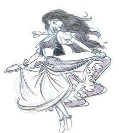 Concept Art Sketches for Esmeralda