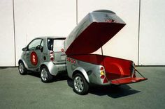 smart car with matching clever trailer - nice!