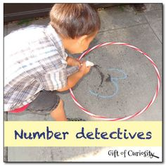 Number detectives - a fun game to help kids recognize their numbers || Gift of Curiosity