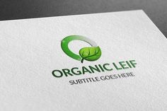 Organic Leif Logo by BdThemes on @creativemarket