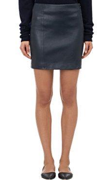 Doclen Leather Mini Skirt