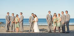 Wedding Party Portrait ~ Short Sands, York, ME ~ Oceanside Wedding at Union Bluff Meeting House, York, ME by Artifact Images Wedding Photographers