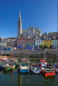 St Colman's Cathedral & Harbor ~ Cobh, County Cork, Ireland
