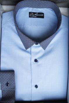Chemise homme bleue à motifs - Empreinte Moi. Retrouvez tous nos modèles  sur www.empreinte-moi.com et créez votre chemise sur-mesure avec notre ... db6250adc0e
