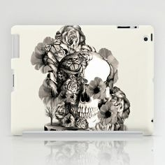Life on a pedestal, floral skull iPad Case by Kristy Patterson Design - $60.00