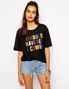 Native Rose Should Have Been A Cowboy T-Shirt in Fine Knit