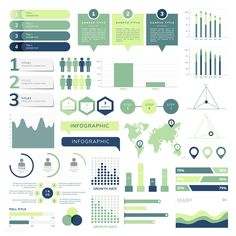 Set of business infograph vectors Free V. Modern Business Cards, Business Card Design, Research Poster, Social Media Images, Design Research, Data Visualization, Free Design, Design Art, Vector Free
