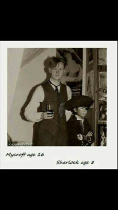 Mycroft and Sherlock (dressed as a pirate)