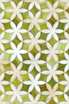 This geometric chartreuse tile ignites our inspiration!