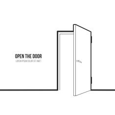 Illustration of open door vector art illustration - Garage Door Social Media Art, Mother Art, Logo Design, Graphic Design, Design Design, Line Illustration, Cd Cover, Art Therapy, Portfolio Design