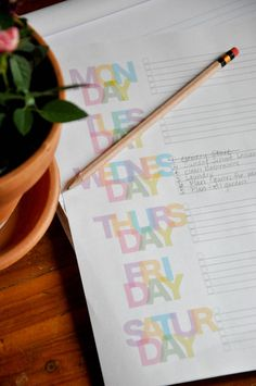 Printable to-do lists!