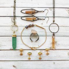 Handmade raw crystal jewellery