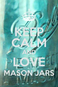 Keep Calm Mason Jar.