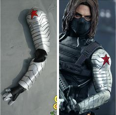 Find More Clothing Information about New Arrival Captain America The Winter Soldier James Buchanan Barnes Bucky  Cosplay Arms Armor Gloves,High Quality armor games free games,China glove Suppliers, Cheap armor steel from PURPLESALAD on Aliexpress.com