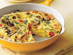 Get Your Veggies And Protein In One Fast And Easy Low-Carb Dish: Asparagus, Mushroom, and Tomato Frittata Recipe