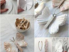 tutoriel-pour-transformer-des-moules-à-muffins-blanchs-en-papillons-paillettes-idée-activité-créative-de-printemps-bricolage-facile