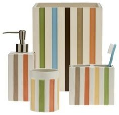 Target Home Striped Bath Collection contemporary bath and spa accessories