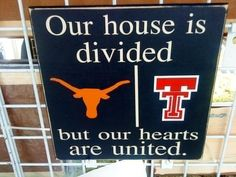 Personalized College Sign Divided House  etc. $30.00, via Etsy.  (I would get #NotreDame & #Navy)