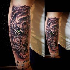 Mens Tattoos, Tattoos For Guys, Tiger Tattoo, Ink, Tigers, Tattoo Designs, Instagram, Animals, S Tattoo