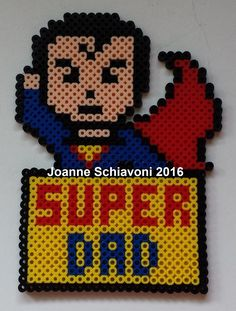 Week 3, Day 17, Role Model, Perler Beads 365 Day Challenge. Designed by Joanne Schiavoni.