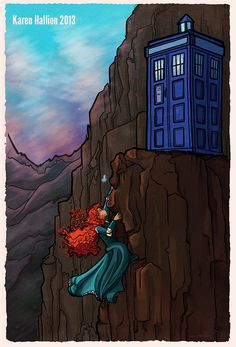 """Hey Merida, want to be my companion?"" I think this is the best Disney doctor who crossover pic.  Either that or Belle."