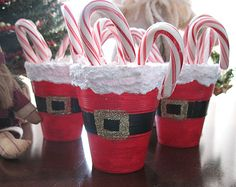 Santa's Belly Treat Cups   Christmas craft