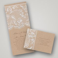 Lace & Burlap in an invite, sold!  Invitations By Dawn New Vintage Wedding Invitation Collection http://storyboardwedding.com/invitations-by-dawn-vintage-wedding-invitation-collection/