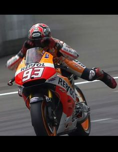 Marc marquez wins race 8 out of 8 at Assen and has a maximum of 200 points so far this season! ! He ' swam ' across the line to celebrate! 2014